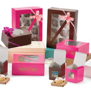 window cupcake boxes uk