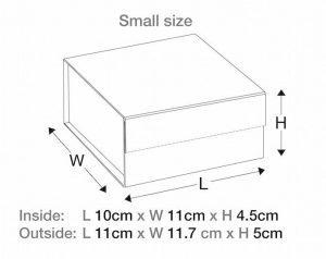 uk White Small Gift Boxes ribbon