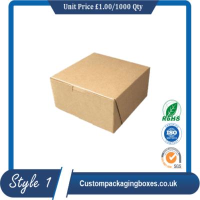 Custom Kraft Cake Boxes sample #1