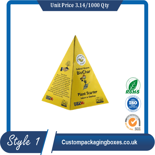 Custom Personalized Pyramid Favor Box sample #1