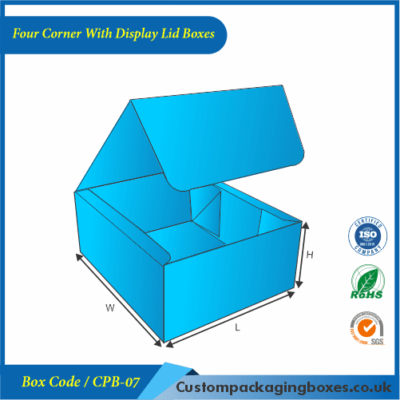 Four Corner With Display Lid Boxes 01