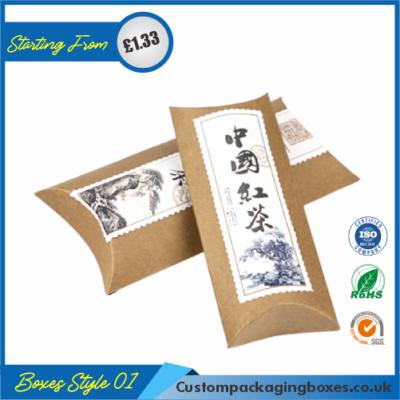 Kraft Paper Gift Pillow Boxes 01