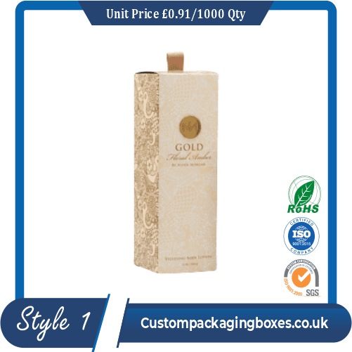 custom printed glossy lotion packaging boxes sample # 1