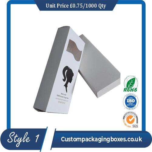 Custom Printed Hair Extension Packaging Boxes