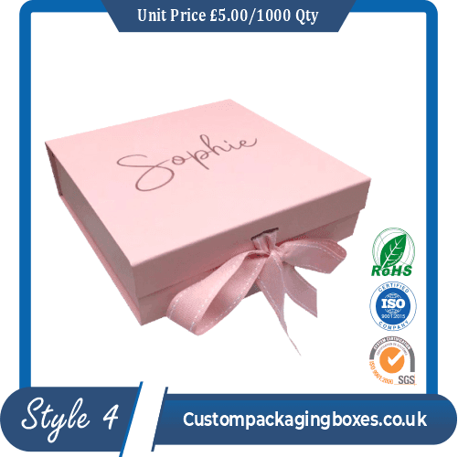 Rigid magnetic Packaging boxes with ribbon